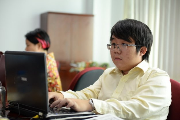 Tran Thien Minh - Overseas student in the US answers readers - Photo: Huu Khoa