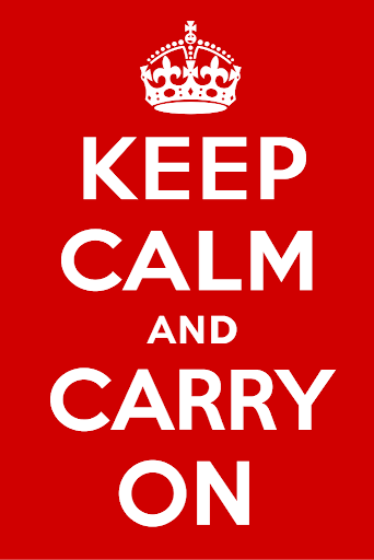 Carry on - phrasal verbs